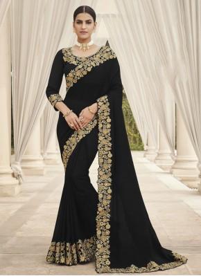Splendid Embroidered Ceremonial Designer Saree