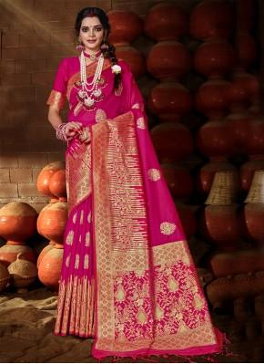 Staggering Rani Festival Traditional Designer Saree