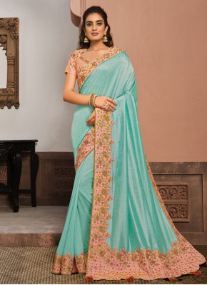Staring Blue Designer Traditional Saree