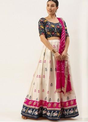 Staring Cotton Resham Cream Designer Lehenga Choli