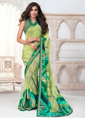 Sterling Abstract Print Casual Saree