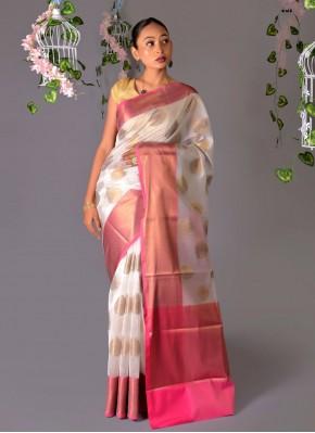 Sterling Chanderi Cotton Woven Designer Traditional Saree