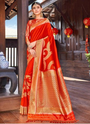 Sterling Red Festival Classic Saree