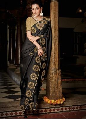 Sterling Silk Black Weaving Designer Saree