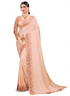 Striking Crepe Silk Embroidered Designer Traditional Saree