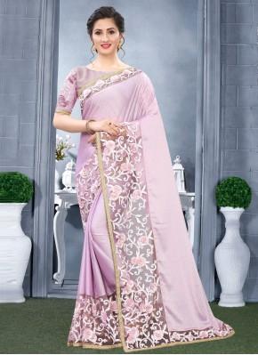 Striking Lavender Rangoli Traditional Designer Saree