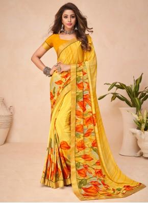 Striking Multi Colour Abstract Print Printed Saree