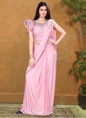 Striking Pink Classic Designer Saree