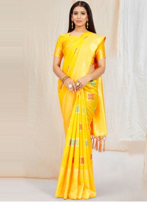 Striking Weaving Traditional Saree