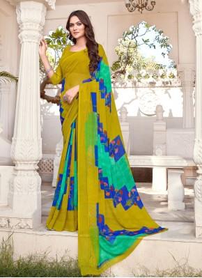 Stunning Multi Colour Printed Printed Saree