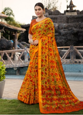 Stunning Multi Colour Weaving Cotton Silk Traditional Saree