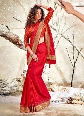 Stupendous Chanderi Patch Border Designer Traditional Saree