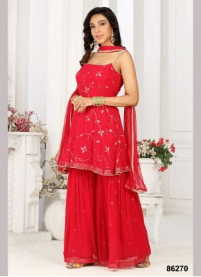 Stupendous Georgette Sequins Work Designer Ready made Palazzo Dress