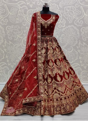 Stylish Embroidered Trendy Lehenga Choli