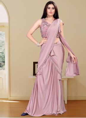 Stylish Handwork Lycra Designer Saree