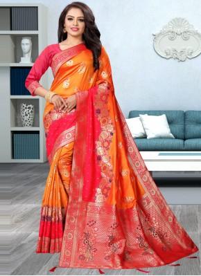 Suave Weaving Banarasi Silk Traditional Designer Saree
