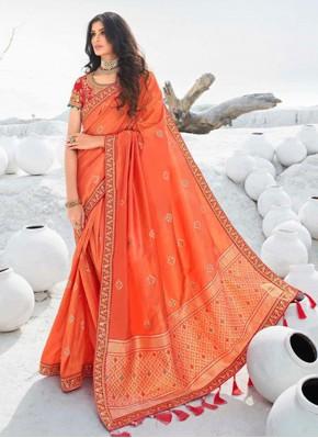 Subtle Embroidered Ceremonial Classic Designer Saree