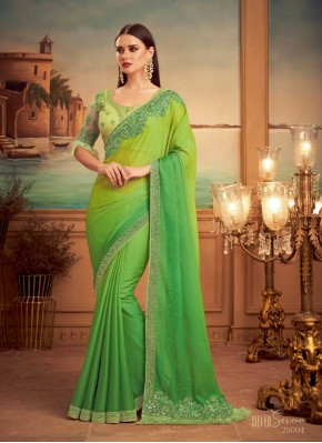 Subtle Shaded Saree For Engagement