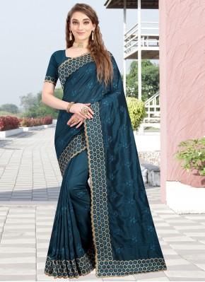 Sumptuous Blue Wedding Designer Traditional Saree