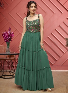 Sumptuous Hand Embroidery Georgette Anarkali Suit