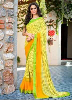 Superb Multi Colour Abstract Print Weight Less Casual Saree
