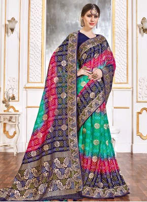 Superb Weaving Multi Colour Viscose Contemporary Saree
