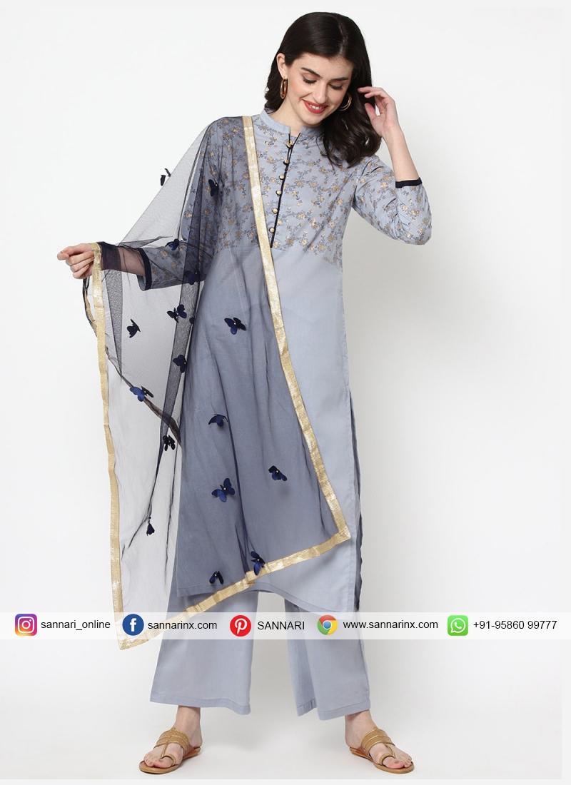 Superlative Foil Print Festival Designer Salwar Kameez