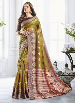 Surpassing Classic Designer Saree For Mehndi