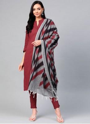 Surpassing Cotton Plain Readymade Suit