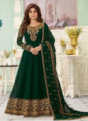 Surpassing Georgette Green Salwar Suit