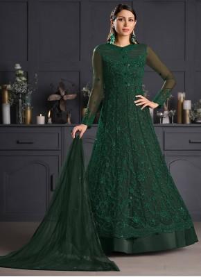 Surpassing Net Embroidered Bollywood Salwar Kameez