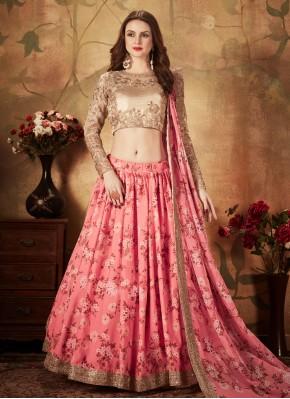 Surpassing Pink Bollywood Lehenga Choli