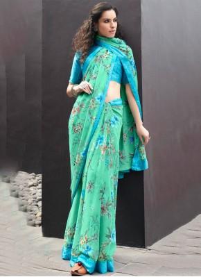 Surpassing Printed Georgette Multi Colour Casual Saree