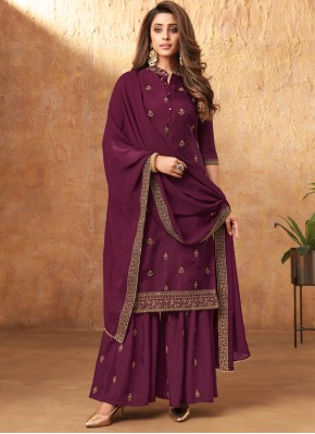 Swanky Embroidered Festival Designer Pakistani Suit