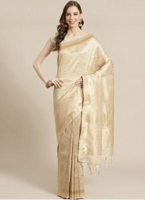 Swanky Gold Weaving Traditional Designer Saree