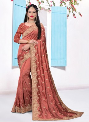 Swanky Silk Embroidered Designer Saree