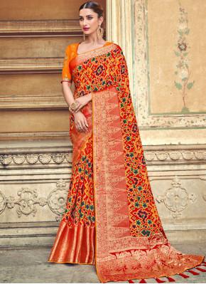 Tantalizing Designer Traditional Saree For Bridal