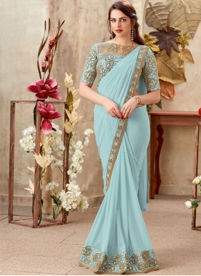 Tantalizing Lycra Party Trendy Saree