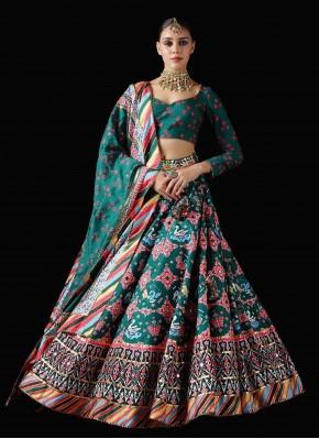 Tantalizing Patola Print Multi Colour Trendy Lehenga Choli