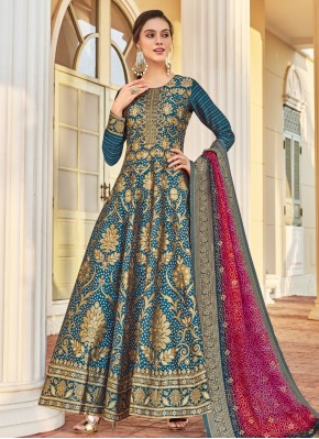 Teal Color Readymade Anarkali Salwar Suit