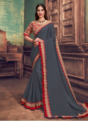 Teal Festival Silk Traditional Saree