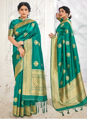 Teal Wedding Designer Traditional Saree
