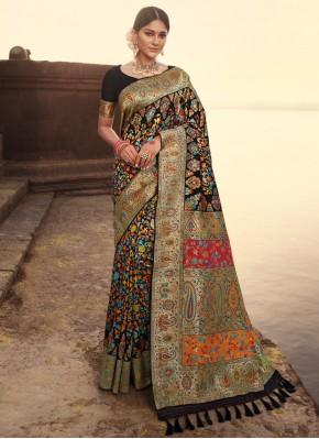 Tempting Weaving Banarasi Silk Designer Traditional Saree