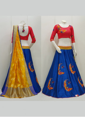 Thread Work Tafeta Silk Garba Chaniya Choli