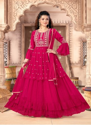 Thrilling Rani Stone Work Heavy Look Salwar Suit