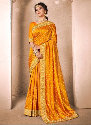 Thrilling Silk Patch Border Traditional Saree