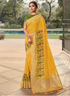 Tiptop Cotton Weaving Traditional Saree