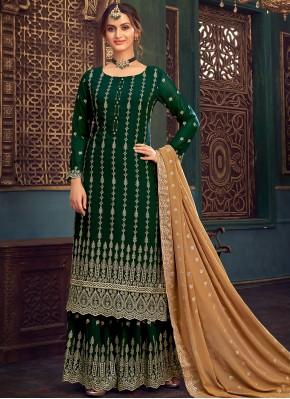 Tiptop Green Festival Designer Pakistani Salwar Suit