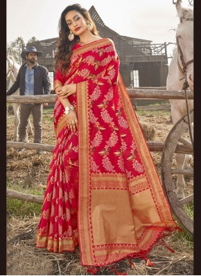 Tiptop Weaving Traditional Saree