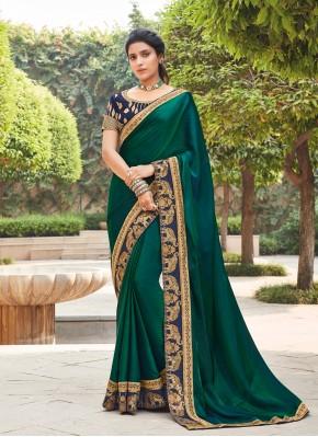 Titillating Silk Ceremonial Designer Saree